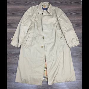 Burberry Tan Nova Check Overcoat Topcoat 40R